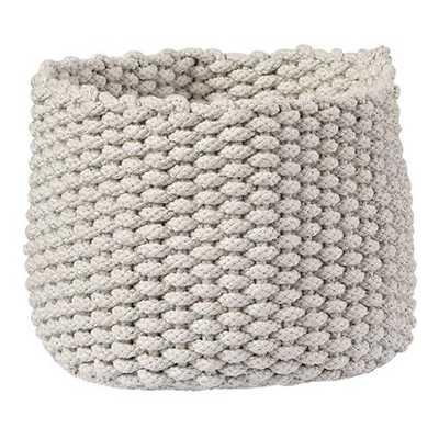 Small Khaki Kneatly Knit Rope Bin - Land of Nod