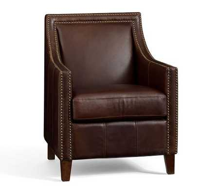Everly Leather Armchair - Pottery Barn