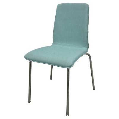 Upholstered Stacking Chair - Light Blue - Target