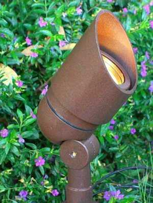 Directional Bullet - BPL101 Rust Low Voltage Landscape Lights - Home Decorators