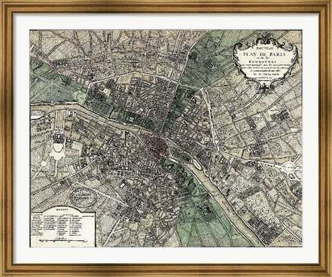Plan de Paris - green - fulcrumgallery.com