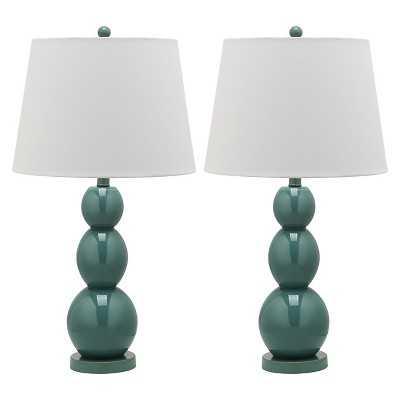 Safavieh Jayne Three Sphere Glass Lamp Set - Target