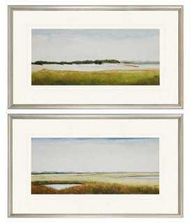 Marshlands II Diptych - 18x30 - Framed - One Kings Lane