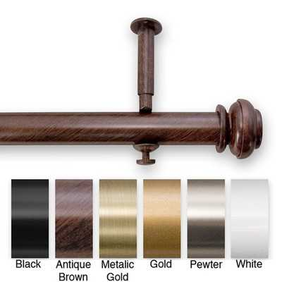48 to 86-inch Adjustable Curtain Rod Set - Overstock