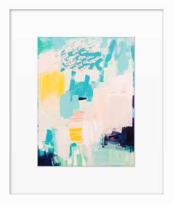 "Bluebeard - 14"" L X 12"" W - Framed - Domino"