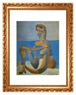 "Picasso, Baigneuse Assise au Bord, 1930 25"" x 30""  framed - One Kings Lane"