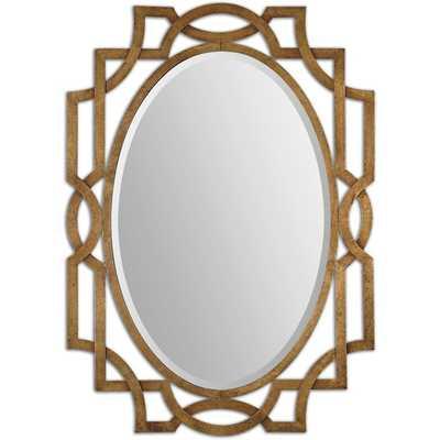 Uttermost Margutta Gold Decorative Oval Mirror - Overstock