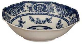 """11"""" Anselme Floral Bowl, Blue - One Kings Lane"""