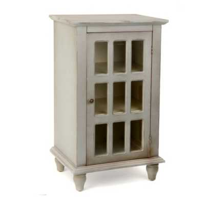 Antiqued Blue Gray Window Pane Side Table - kirklands.com