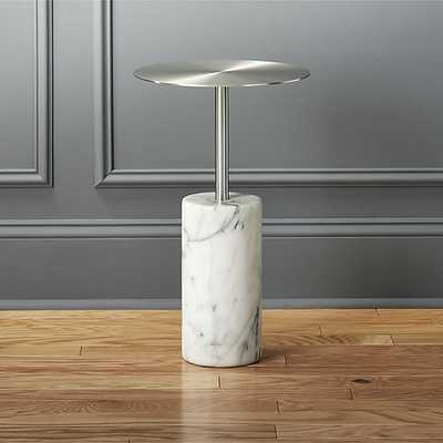 Cuff link marble side table - CB2
