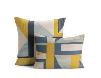 Abstract Pillow, Yellow-20x20-down  insert - Design Within Reach