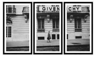 """Glamour, Givenchy Triptych-27.25"""" x 45.75""""-Framed (Black)- Set of 3 - One Kings Lane"""