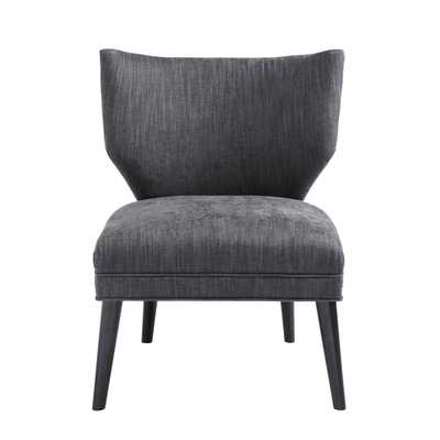 Madison Park Harlyn Armless Retro Wing Chair--Charcoal - Overstock