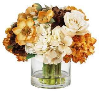 "13"" Hydrangea & Roses in Vase - One Kings Lane"