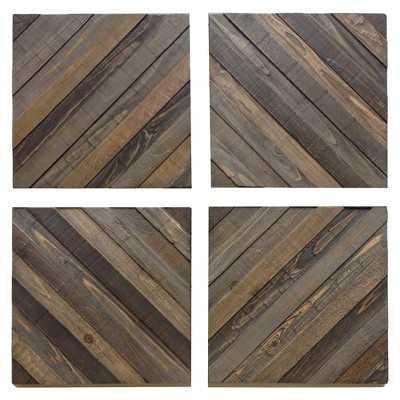 Wood Decorative Panels - Set of 4 - Target