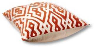Maze 36x36 Floor Pillow, Orange - One Kings Lane