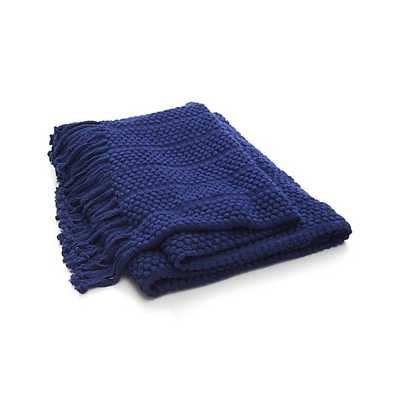 Marley Blue Throw - Crate and Barrel