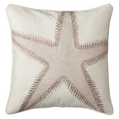 "homthreadsâ""¢ Coastal Starfish Decorative Pillow - Blue/White (Square)- 20"" sq- Polyester fill inser - Target"