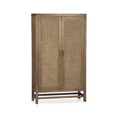 Blake Grey Wash 2-Door Cabinet - Crate and Barrel
