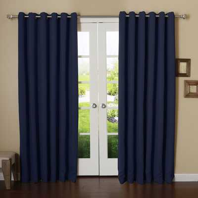 "Extra Wide Width Thermal Single Curtain Panel, 108"" - Wayfair"