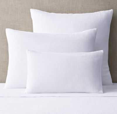 PETITE PLEAT COTTON SATEEN SHAM - Standard - White - RH