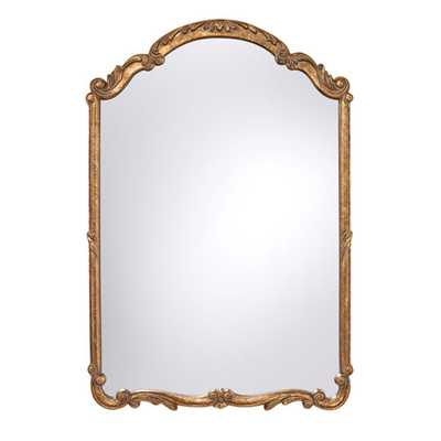 Feiss Antique Gold Arched and Crowned Mirror - Bellacor