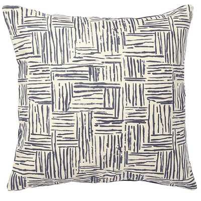 """Hatch Pillow in Ink - 20 """" L X 20 """" W - Down/feather insert - Domino"""
