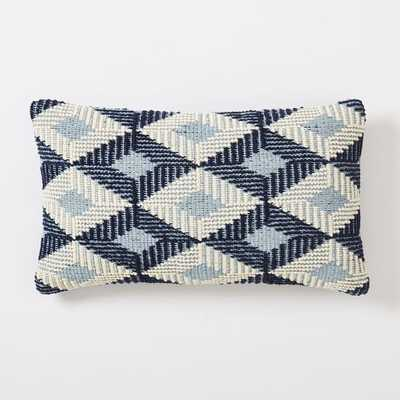 Dash Diamond Pillow Cover - Nightshade - 21x12 - Insert Sold Separately - West Elm