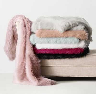 KASHMIR FAUX FUR THROW - RH Teen