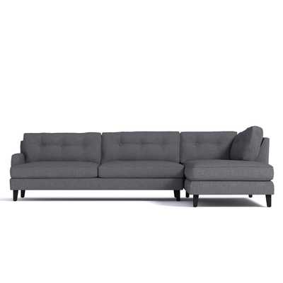 Virgil 2Pc Sectional - Smoke- Chaise On the right - Apt2B