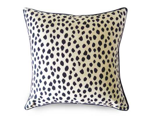 "Duma Spots Pillow Cover - Black and Beige- 18"" x 18""- Insert Sold Separately - Etsy"