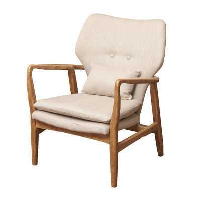 Isabella Accent Arm Chair-Beige - Wayfair