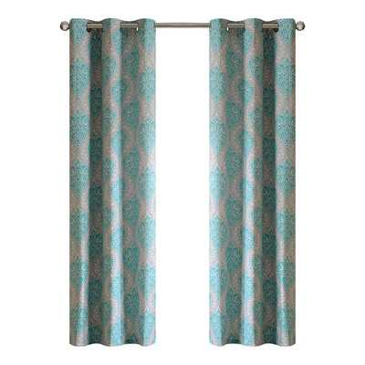 "Senna Curtain Panel - Set of 2 - Aqua - 84"" L x 42"" W - Wayfair"