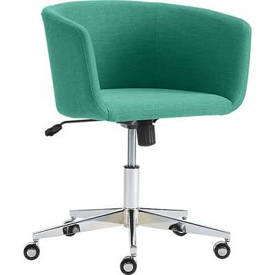 Coup teal office chair - CB2