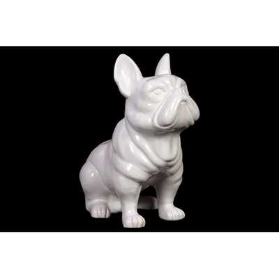 Ceramic Standing French Bulldog with Pricked Ears Gloss Black by Urban Trends - AllModern