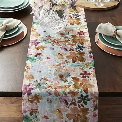 "Posey Linen 90"" Table Runner - Crate and Barrel"