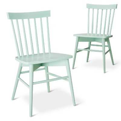 Windsor Dining Chair Wood (Set of 2) - Mint - Target