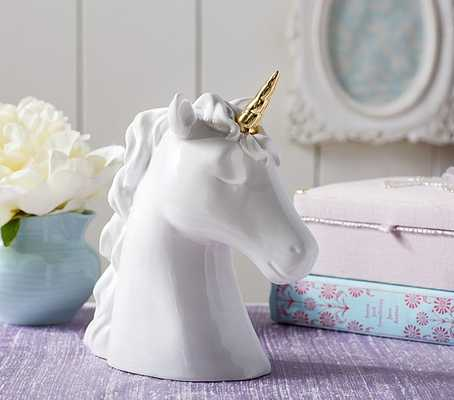 Ceramic Unicorn Piggy Bank - Pottery Barn Kids