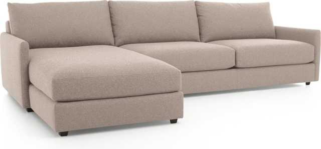 Drake 2-Piece Sectional Sofa - Crate and Barrel