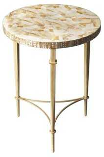 Hope Accent Table, Gold/Cream - One Kings Lane