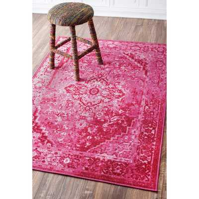 NuLOOM Traditional Vintage Inspired Overdyed Fancy Multi Rug - Overstock