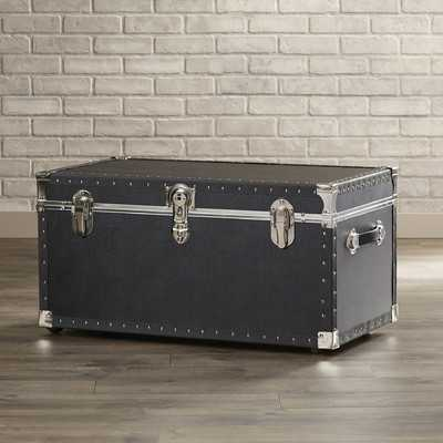 Newton Oversize Trunk with Wheels in Black - Wayfair