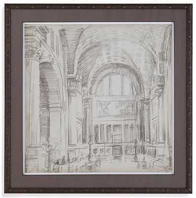 "INTERIOR ARCHITECTURAL SKETCH IV FRAMED WALL ART - 26""SQ - Home Decorators"