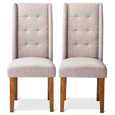 Charlie Modern Wingback Pin Tuck Dining Chair (Set of 2) - Target