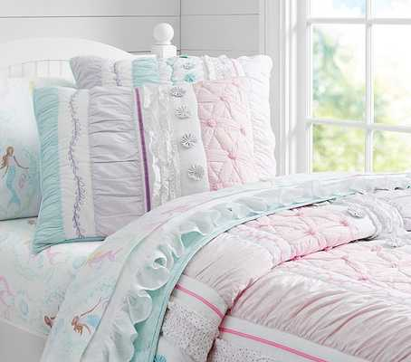 Bailey Ruffle Quilted Bedding - Twin - Pottery Barn Kids