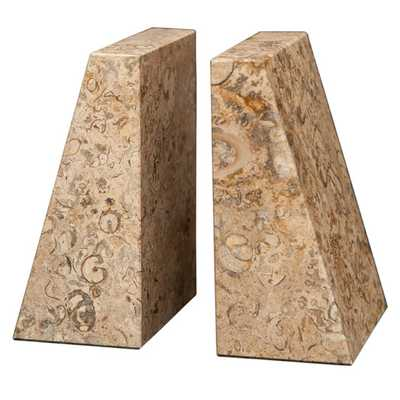 Fossil Stone Zeus Book Ends (Set of 2) - AllModern