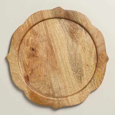 Wood Baroque Chargers, Set of 4 - World Market/Cost Plus