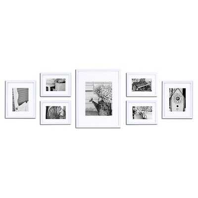 Gallery Solutions 7 Piece Wall Frame Set - White - Target