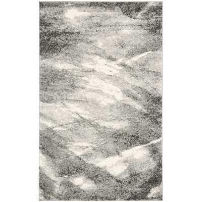 Safavieh Deco Inspired Grey/ Ivory Rug (8' x 10') - Overstock