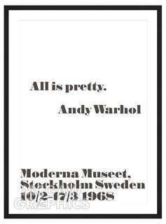 Andy Warhol, All is pretty. - One Kings Lane